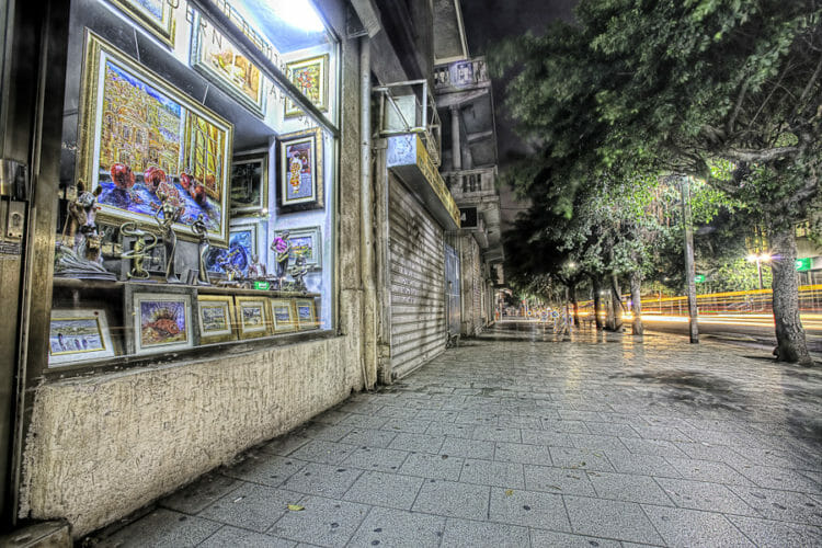 Rotschild Tel Aviv Streets at Night